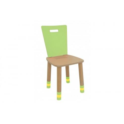 Scaun copii cu spatar reglabil Simple verde
