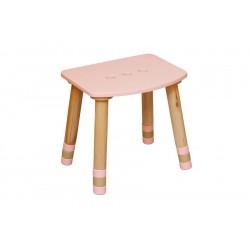 Taburet copii roz