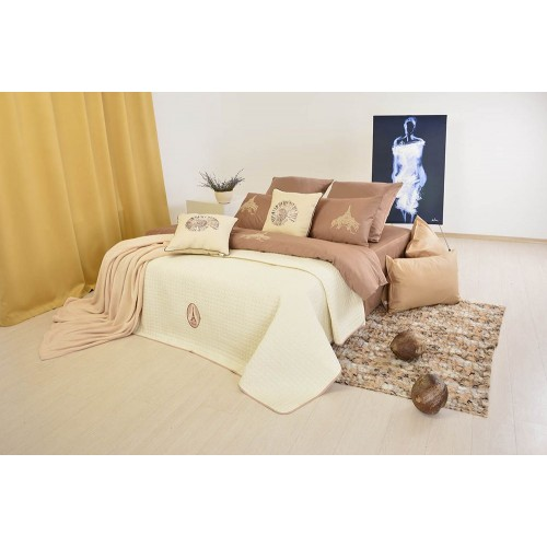 Cuvertura matlasata Idea Style Lux, 210 x 240 cm, cream