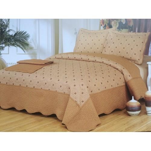 Cuvertura de pat bej cu design modern